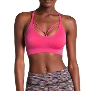 PUMA Sports Strappy Bra in hot pink